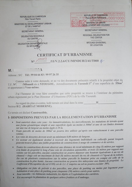 Eregulations Yaounde