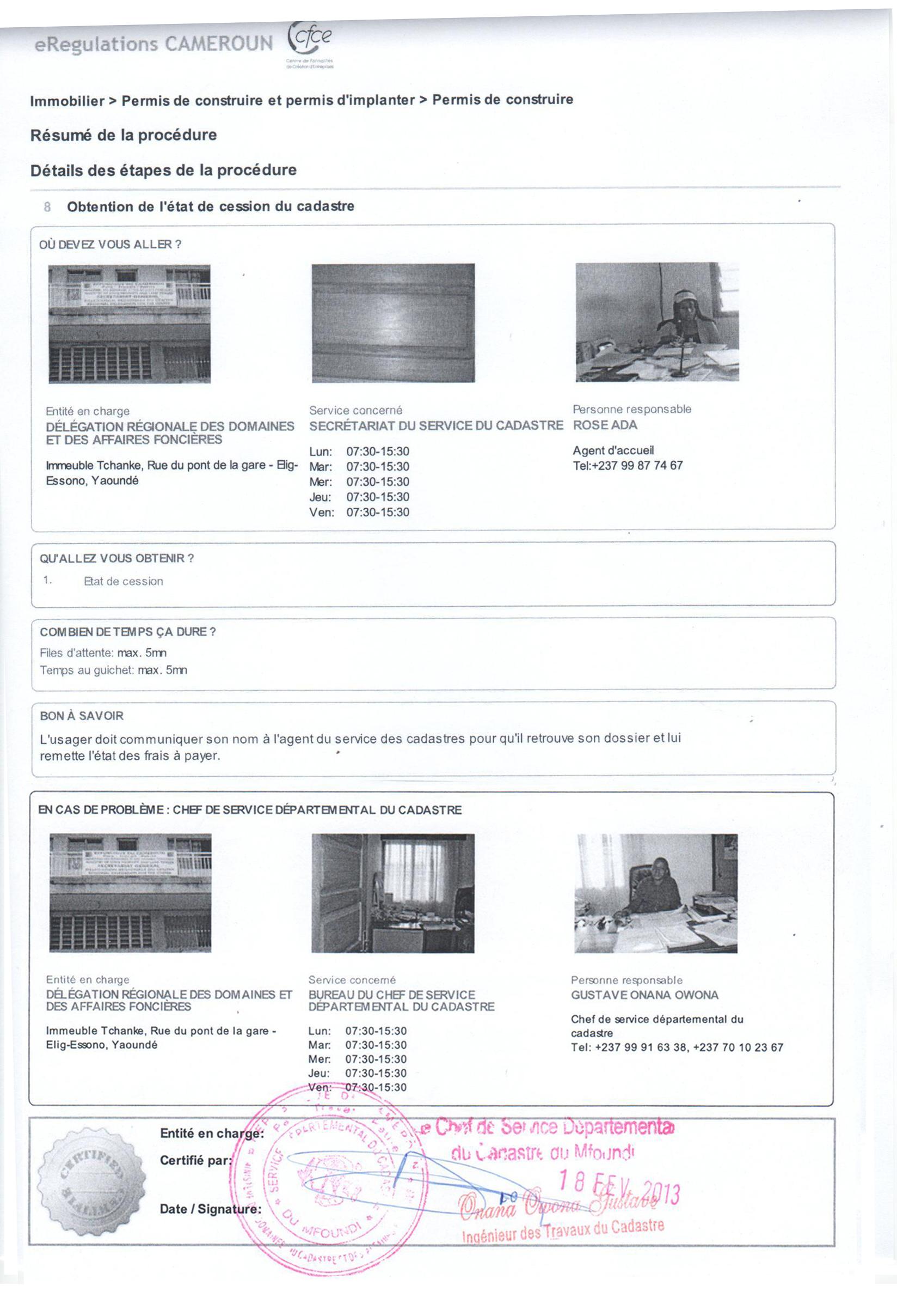 eregulations yaound. Black Bedroom Furniture Sets. Home Design Ideas